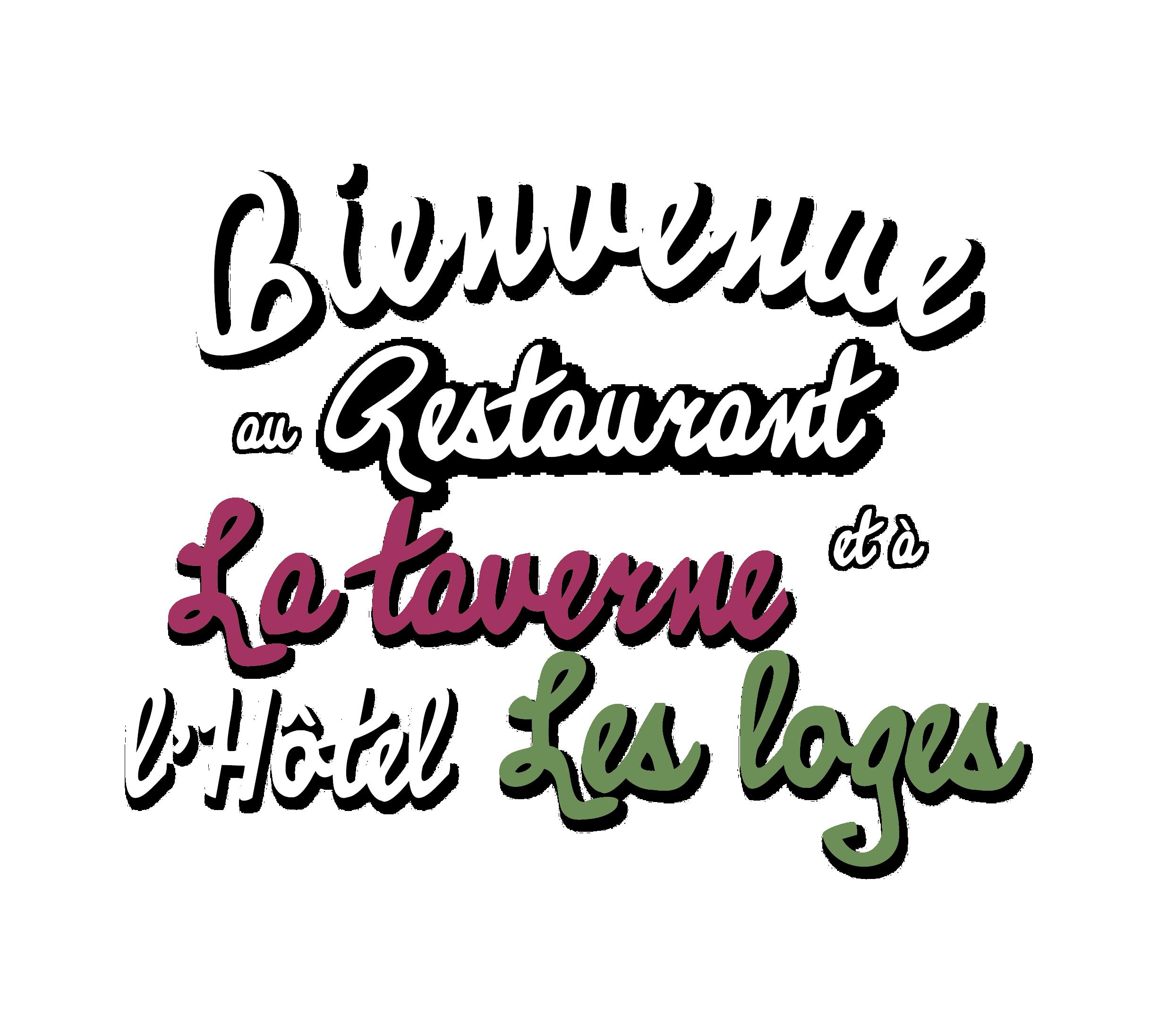 logo bienvenue Taverne Loge blanc